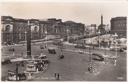 LIVERPOOL (Lancashire) - Kingsway And William Brown Street, Old Cars, Fotokarte 193? - Liverpool