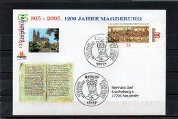 Deutschland, 2005, FDC (individuell), Michel 2487, Echt Gelaufen, 1200 J. Magdeburg - FDC: Brieven