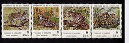 628788016 EL SALVADOR 1988  ** MNH SCOTT 1194 W.W.F. CATS FELINES - Salvador