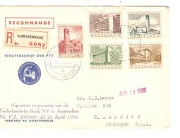 2457/ Holland Registered Cover 's-Gravenhague 1955 To USA - Period 1949-1980 (Juliana)