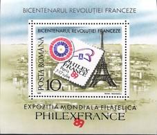 Romania  1989 French Revolution Bicent. S/S - 1948-.... Republics