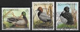 CANARDS - Luxembourg 2000, Timbres N°1453 à N°1455 (série Complète) - Oblitérés - Canards