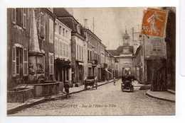 - CPA GIVRY (71) - Rue De L'Hôtel-de-Ville 1928 - Edition BOURGEOIS - - France