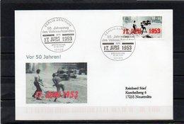 Deutschland, 2003, FDC (individuell), Michel 2342, Echt Gelaufen, 17. Juni 1953 - Lettres & Documents