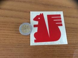 """AUTOCOLLANT, Sticker """"écureuil  - CAISSE D'EPARGNE"""" Rouge - Autocollants"""