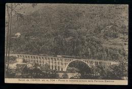 CERES - TORINO - 1930 - PONTE DELLA FERROVIA ELETTRICA CON TRENO IN TRANSITO. - Trenes