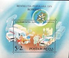 "Romania  1990 December""89 Revolution S/S - 1948-.... Republics"