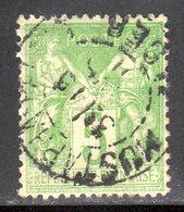 """N° 102 (Sage) Oblitéré """"MUSTAPHA-ALGER"""" TB ! - 1898-1900 Sage (Type III)"""