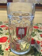 Bicchiere Boccale Birra Löwenbräu Oktoberfest 1 Litro Originale Leggera Sbeccatura - Bicchieri
