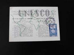 CARTE MAXIMUM   UNESCO  -  1946  - - 1940-49