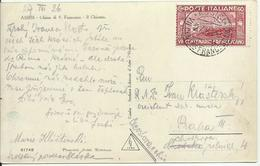 VE3-215-Cartolina Per La Cecoslovacchia (Portorose) Con 60 Cent. San Francesco 27.8.1926 - Bella - 1900-44 Victor Emmanuel III