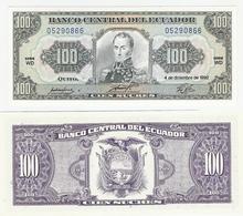Ecuador  P. 123Ab  100 Sucres 4.12.1992 WD 05290866 UNC - Equateur