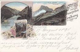 Litho Gruss Vom Steirischen ERZBERG, 1899?, Auf Rückseite Klebespuren S.Scan - Autres