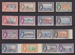 Bahamas .-1954 P.O.Elisabetta II Soggetti Diversi  16 Val. Cpl. G.i. MNH ** - Bahamas (...-1973)