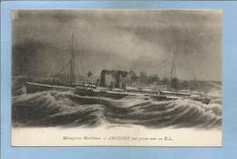 Messageries Maritimes Amazone Par Grosse Mer 2 Scans 14-09-1918 (15e Section De C.O.A. Secteur 510 Armée D'Orient) - Koopvaardij