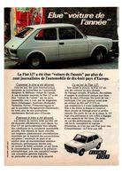 RECORTE DE PRENSA REVISTA O PERIÓDICO PUBLICIDAD COCHE COCHES FIAT 127 Y ESSO ADVERTISING PRESS VER CAR AUTOMOVIL ITALY - Publicidad