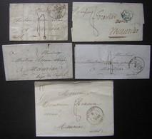 Lot De 5 Lettres Entre 1834 Et 1848 Pour Mauriac (Cantal) - 1801-1848: Précurseurs XIX