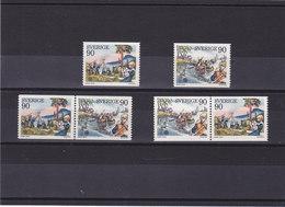 SUEDE 1975 SCOUTISME  Yvert 900-901 + 900a-901a NEUF** MNH - Suède