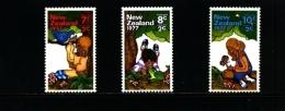 NEW ZEALAND - 1977  BIRD-FROG-BUTTERFLY  SET MINT NH - Nuova Zelanda