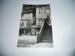 46 LOT CARTE ANCIENNE EN N/BL GAUFRE  SANS ECRITURE  ROCAMADOUR LE PARVIS DES EGLISES EDIT PHOTO GEB N°16 - Rocamadour