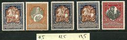 Russia 1914 .  Zag. 130,133, 133 A, 131 B,133 B  MNH OG - 1857-1916 Empire