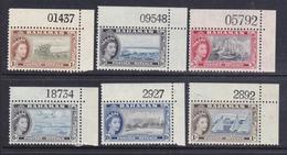 Bahamas .-1954 P.O.Elisabetta II Soggetti Diversi   6 Val. Con N° Di Tavola . G.i. MNH ** - 1859-1963 Crown Colony