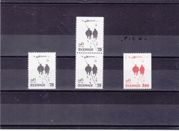 SUEDE 1977 ANDERSSON Yvert 962-963 + 962a NEUF** MNH - Suède