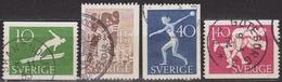 1953: Schweden Mi.Nr. 379-382 Gest. (d726) / Suède Y&T No. 372-375 Obl. - Schweden