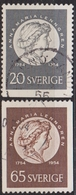 1954: Schweden Mi.Nr. 394-395 Gest. (d728) / Suède Y&T No. 387-388 Obl. - Schweden