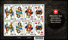 Kleinbogen Schweizer Jass 2018** / Swiss Card Game / Jeu De Cartes Suisse / Gioco Di Carte Svizzero - Blocks & Kleinbögen