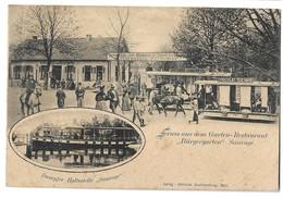 CPA Metz Restaurant Burgergarten  Et Bateau Sauvage 1903 - Metz
