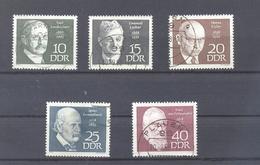 1968   DDR Mi-1386-1390  Berühmte Persönlichkeiten - [6] République Démocratique