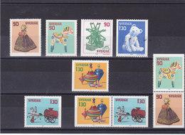 SUEDE 1978 NOËL Yvert 1027-1032  + 1027a + 1031a NEUF** MNH - Suède