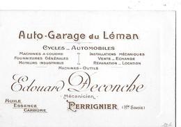 PERRIGNIER CARTON PUB   EDOUARD DECONCHE  MECANICIEN   CYCLES  AUTO GARAGE   DEPT 74 - France