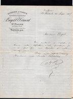 VP12.900 - Lettre - Scieries A Vapeur ....A. GUYOT & CORMONT à SAINT - FIACRE Par TRILPORT - Francia