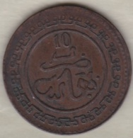 10 Mazunas (Mouzounas) HA 1320 (1902) FEZ. Abdul Aziz I. Frappe Médaille - Maroc