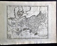 États De La Prusse, Carte Gravée Et Non Imprimée - Carte Geographique