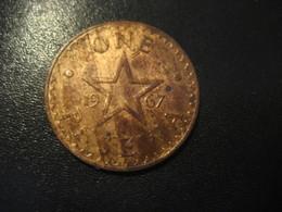 1 One Pesewa GHANA 1967 Coin - Ghana