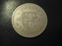 20 Pesewas GHANA 1967 Coin - Ghana
