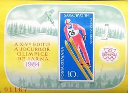 Romania   1984 Winter Olympics Imperf. S/S - 1948-.... Republics