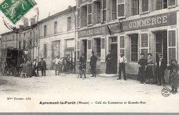 APREMONT-LA-FORÊT  -  Café Du Commerce Et Grande Rue L'Arrivée Du Courrier -  Foliguet Photo - Altri Comuni