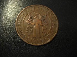 5 Mils CYPRUS 1956 QEII Coin Britsh Colonies - Chipre
