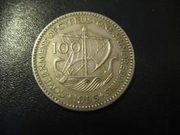 100 Mils CYPRUS 1955 QEII Coin Britsh Colonies - Chypre