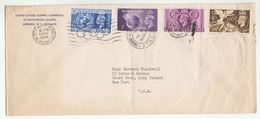 1948 LONDON OLYMPICS From US OLYMPIC COMMITTEE At WEMBLEY GAMES 13 Aug Franked SET GB Stamps COVER Usa Sport - Summer 1948: London