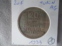 20 Francs Turin Argent 1933 TTB (1) - France