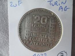 20 Francs Turin Argent 1933 TTB (3) - France