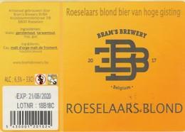 Roeselaars Blond Bier  Bramsbrewery - Bière