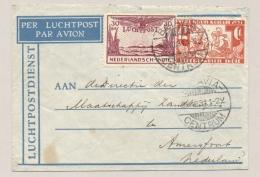 Nederlands Indië - 1931 - 30 Cent LP + 12,5 Cent Witte Kruis Op LP-cover Van Batavia Naar Amersfoort / Nederland - Nederlands-Indië
