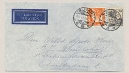 Nederlands Indië - 1936 - 12,5  En 30 Cent Wilhelmina - Mixed Franking - Van LBnr BLITAR/1 Naar Amsterdam / Nederland - Nederlands-Indië