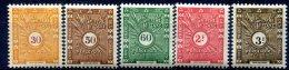 Côte Française Des Somalis     Taxes  N° 39/43  ** - Costa Francese Dei Somali (1894-1967)